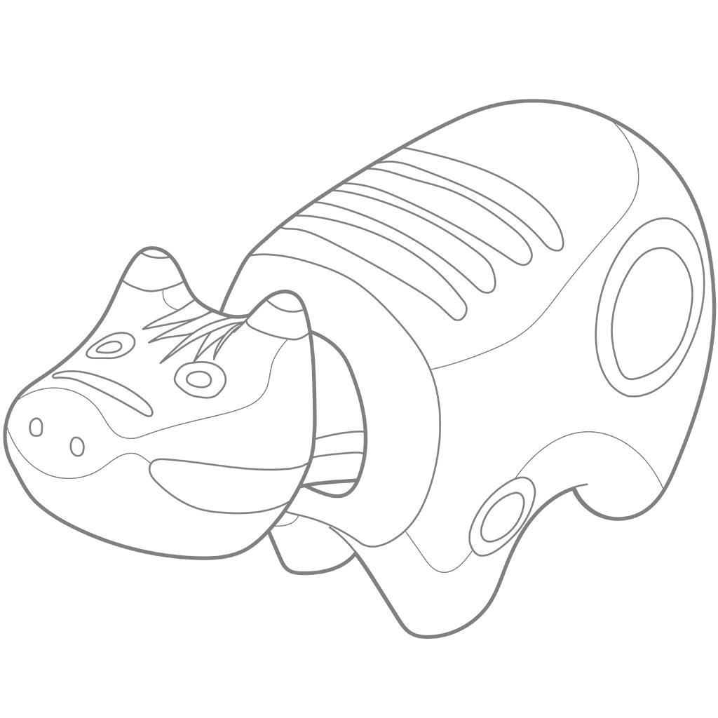 赤べこ:グレー線バージョン