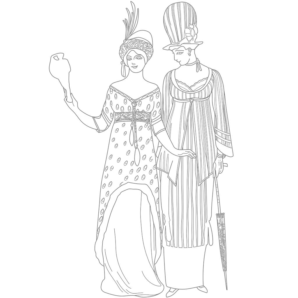 服飾デザイン:グレー線バージョン