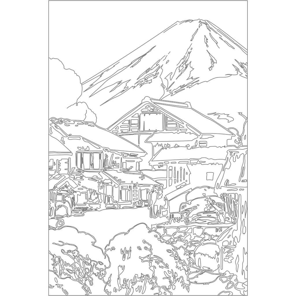 富士拾景 船津:グレー線バージョン