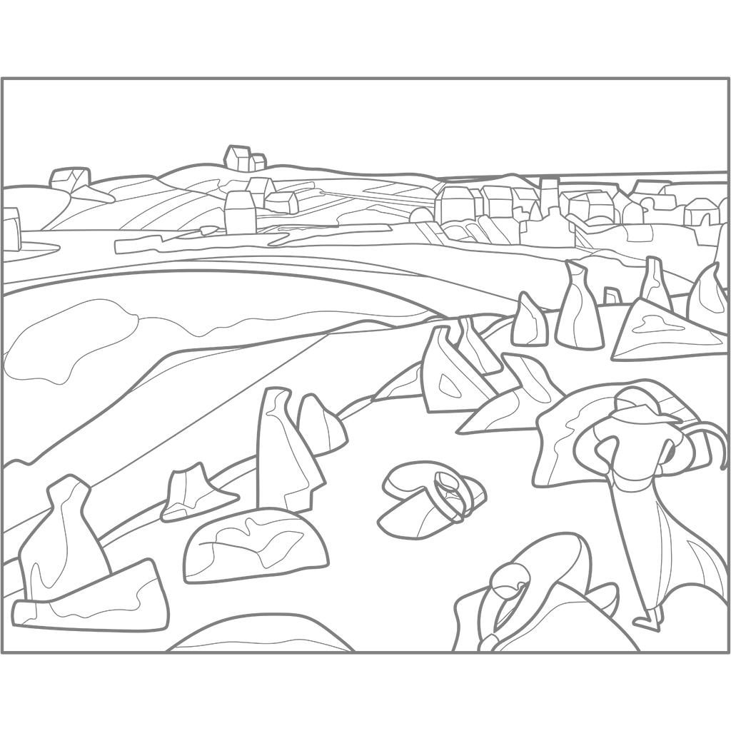海の傍の収穫:グレー線バージョン