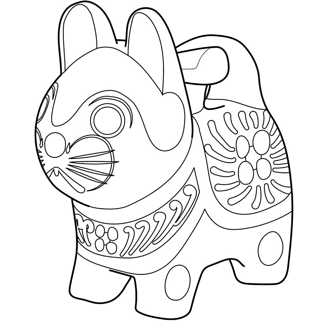 犬張子:黒線バージョン