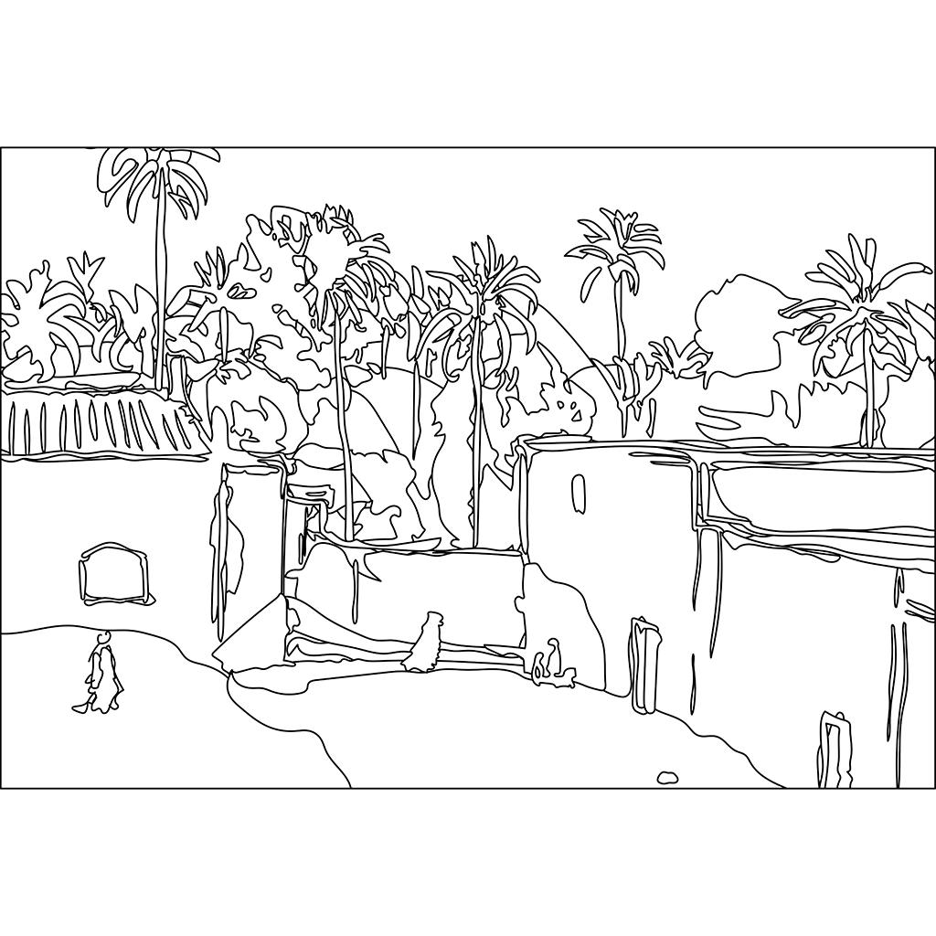 ラグアット:黒線バージョン