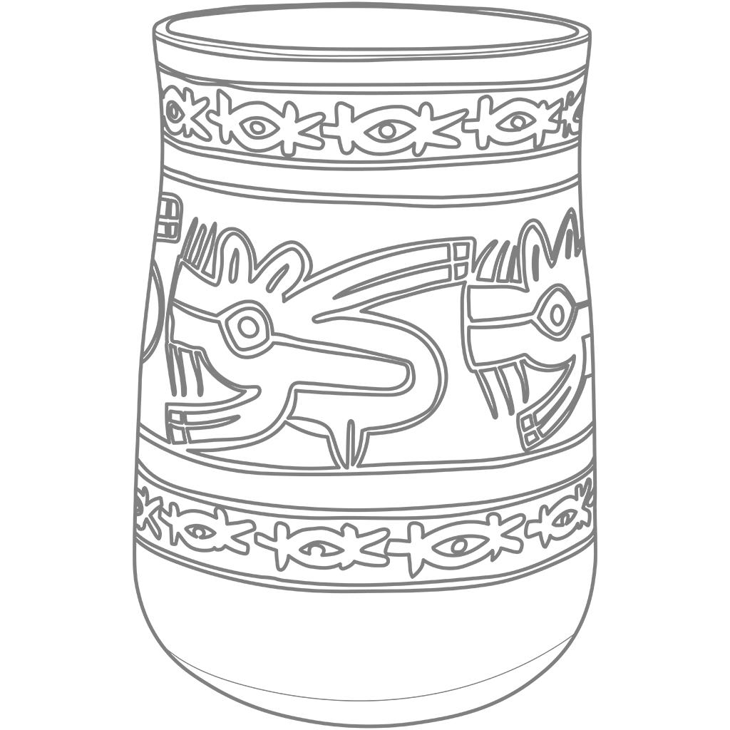 ナスカ文化の土器:グレー線バージョン