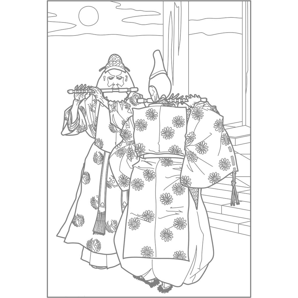 朱雀門の月:グレー線バージョン